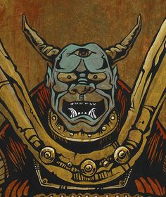 Day of the Dead Artist David Lozeau, By the Sword of the Samurai, Lowbrow Art, David Lozeau Dia de los Muertos Art - 2