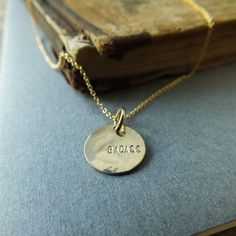 Badass Round Necklace | Becoming Jewelry | Words to Live By Collection