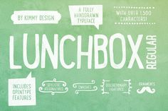 LUNCHBOX Regular +Webfont by Kimmy Design on @creativemarket