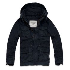 WOW Abercrombie & Fitch Mens Green Mountain Parka North Notch Jacket Coat Navy #AbercrombieFitch #Parka