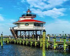 Choptank Lighthouse Maryland by Nick Zelinsky