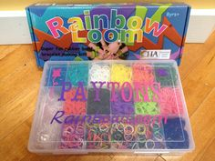 Rainbow loom organization box - personalized with vinyl for my niece