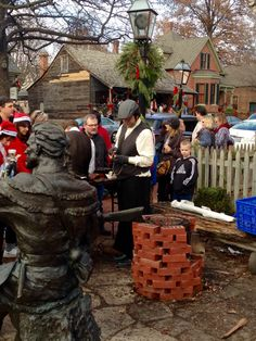 Chestnuts on open fire @ Olde Tyme Christmas Saint Charles, MO