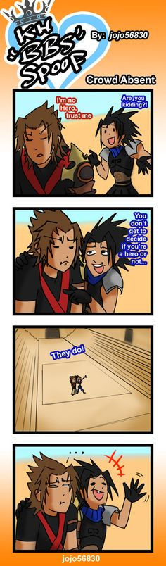KH BBS Spoof: Crowd Absent by jojo56830.deviantart.com on @deviantART (This always bothered me).