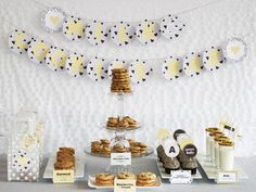 Milk & Cookies Bar — Celebrations at Home - cute table top idea and theme