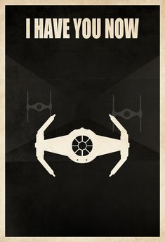 "Licensed Star Wars Minimalist Darth Vader Tie Fighter ""I Have You Now"" Poster Print - Darth Vader Shirt, Darth Vader Tie Fighter, Starwars, Star Wars Poster, Star Wars Art, Star Trek, X Wing Fighter, Fighter Pilot, The Force Is Strong"