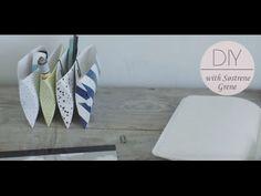 DIY: Pencil holder made of folding cartons by Søstrene Grene - YouTube