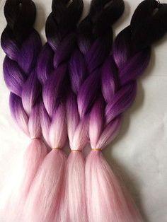 Hair Braids Jumbo Braids Sallyhair Blue Purple Pink Blonde Colorful High Temperature Synthetic Jumbo Braids Ombre Braiding Hair Extension White Women To Help Digest Greasy Food