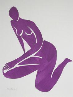 Kate in Purple by Elizabeth Lever