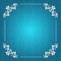 Fundo elegante com frame decorativo Vetor grátis