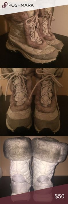 LL Bean Winter Boots These are the best boots for winter! They are super warm and have great traction. They are grey with black/white and look great with snow gear or leggings. They have been worn a handful of times but are in great condition. Perfect addition to your winter boot collection! LL Bean Shoes Winter & Rain Boots