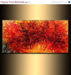 Modern Abstract Original Abstract painting by newwaveartgallery, $300.00