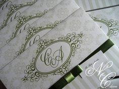 Convite Casamento_Cristiane e Alexandre | New Charm Convites | 2BD433 - Elo7