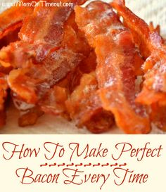 How to Bake Bacon for the most perfect bacon you've ever seen! Step by step instructions make this so easy - restaurant quality bacon is just an oven away :)