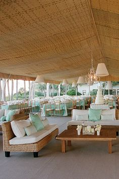 tent wedding decor