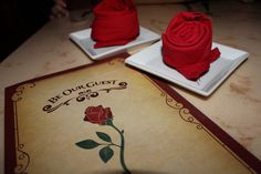 Be Our Guest..rose napkins