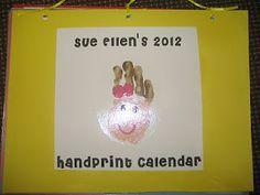 hand print calendar as Christmas gift