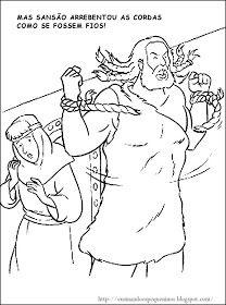 """ERA UMA VEZ ... um homem chamado Sansão. Tinha muitos músculos! Era muito forte e vivia em Israel. Desde pequenino, toda gente dizia:"""" Puxa!..."""