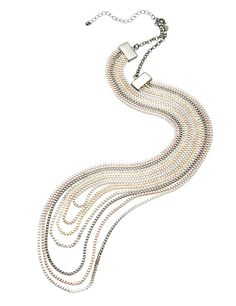 M&S Collection Layered Chain Multi-Row Necklace