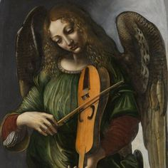 Giovanni Ambrogio de Predis (circa 1455-after 1508) An Angel in green with a…