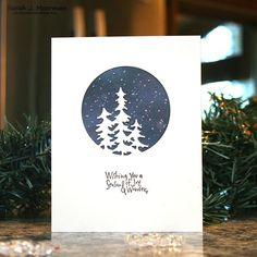 Metal Cutting Die Scrapbooking Embossing Stencil Card Die Or Homemade Christmas Cards, Christmas Cards To Make, Xmas Cards, Simple Christmas, Handmade Christmas, Holiday Cards, Christmas Tree, Scrapbooking, Diy Scrapbook