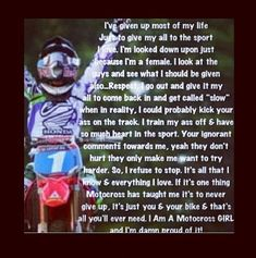 Forever and always a motocross girl or DIRT BIKER GIRL!!!!