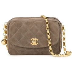 Chanel Vintage Quilted Crossbody Bag ($2,790) ❤ liked on Polyvore featuring bags, handbags, shoulder bags, brown, quilted crossbody, vintage handbags, brown shoulder bag, crossbody handbags and brown crossbody purse