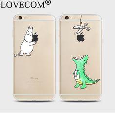 Hot Cartoon Crocodile Soft TPU Phone Case Transparent Ultra-thin Phone Back Cover For iPhone 4 4S 5 5S SE 5C 6 6S 7 Plus YC5060