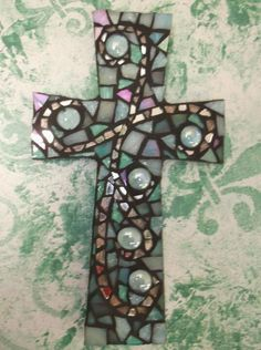Mosaic cross by, KathyMonti