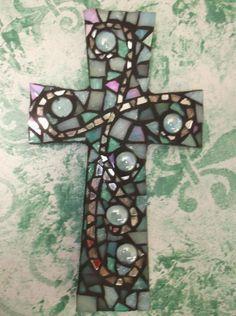 Mosaic cross by, KathyMonti