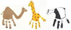 animales hechos con huellas de la mano - Buscar con Google