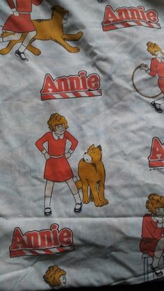 Little Orphan Annie Twin Size Flat Sheet 1981 Vintage #TribuneCompany
