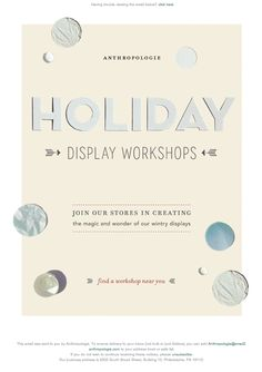 Anthropologie email design
