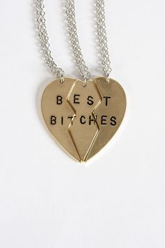 """Best Bitches"" Necklace"