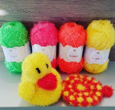 Mit der Bubble-Wolle lassen sich kreative Bade- und Putzschwämme häkeln. Neu in trendigen Neonfarben - jetzt auch online erhältlich. Visual Memory, Rico Design, Trends, Bunt, Creative, Ab Sofort, Bubbles, Diy Things, Instagram