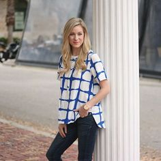 Celebrating the launch of #AdamLippesforTarget in this painted plaid top! @targetstyle #ootd #targetstyle #target