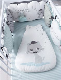 Protector de cuna modulable tema Gatitos, Habitación bebé