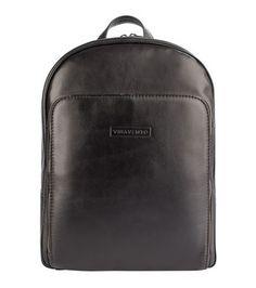 1454e40e549 Mochila masculina dois bolsos em couro legítimo café