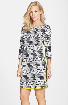 Vince Camuto Print Shift Dress (Regular & Petite) available at #Nordstrom