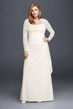 Long Sleeve Wedding Dresses for Older Brides Plus Size