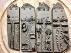 These are so charming can you imagine what message you could stamp on the clay so stinkin amazing – Artofit. Make at the other Carmen's? Pottery Houses, Slab Pottery, Ceramic Pottery, Pottery Art, Clay Art Projects, Ceramics Projects, Ceramic Wall Art, Ceramic Clay, Slab Ceramics