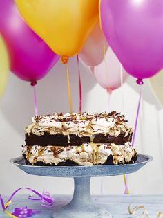 Chocolate peanut butter meringue stack | Jamie Oliver