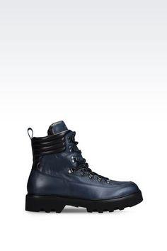 CALFSKIN COMBAT BOOT: Combat boots Men by Armani - 1
