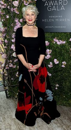 National treasure: Helen Mirren beamed with pride as she attended the 45th Chaplin Award G...