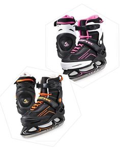 Figure Skates Vibe Adjustable XP1000 https://figureskatingstore.com/brands/Jackson-Ultima.html Sizing can be adjusted to accommodate growing feet Soft boot with external skeletal structure provides comfort and support Available in Black/purple, Black/orange & Black/lime with Leisure style recreational blade attached Available in Pink/white with Figure style recreational blade attached  #figureskatingstore #figureskating #figureskater #icedance #jacksonultima #iceskating #ice #skating