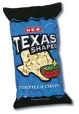 HEB grocery store Texas-shaped tortilla chips! Of course. :)