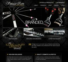 Website Design for VintageIcon.co.uk from Mass Appeal Designs