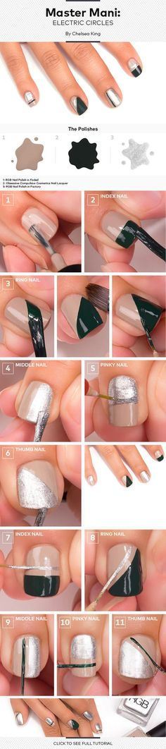 Master Mani Tutorial: Chic Color-Blocking | Beautylish