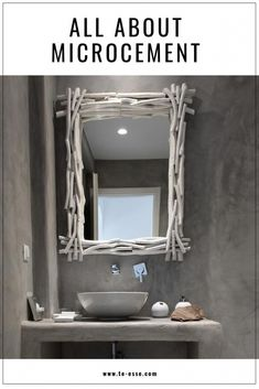 Now that is a great looking microcement bathroom. A pin image to remember. Bathroom Sink Cabinets, Basement Bathroom, Bathroom Plants, Bathroom Colors, Bathroom Ideas, Bamboo Curtains, Steam Showers Bathroom, Relaxing Bath, Bathroom Styling