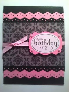 pink and black card homemade